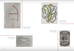"""Fun to be included in Volume 3 of Marjorie Barrick Museum of Art, """"A Drawing A Day Keeps The Pandemic Away"""""""